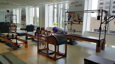 Aula de Pilates Corporativo